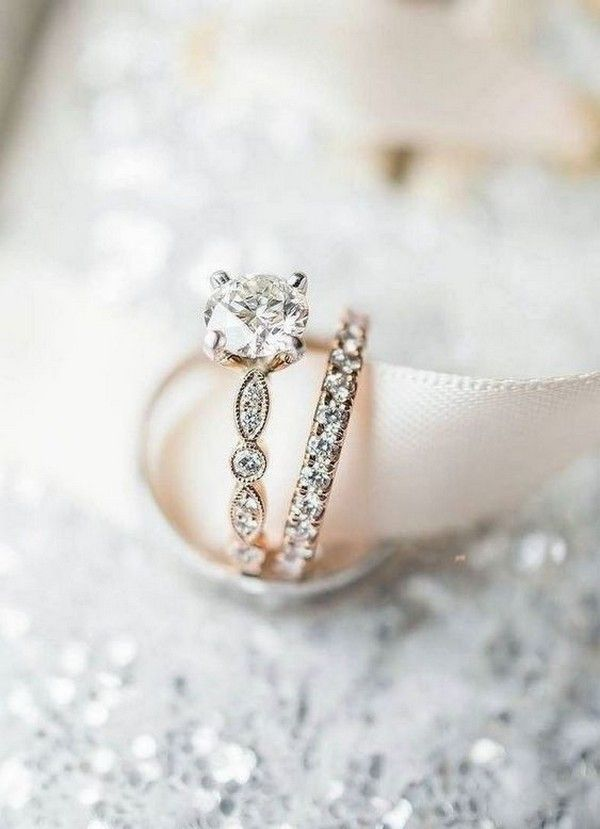 18 Trendy Wedding Engagement Rings for 2019 Brides is part of Wedding rings - Your engagement ring isn't the only special piece of jewelry you'll be wearing on your wedding day—your wedding band, too, should be as unique and special as your engagement ring! After all, while the engagement ring represents a promise, the wedding ring seals the deal  Long gone are the days of sleek and simple goldRead more