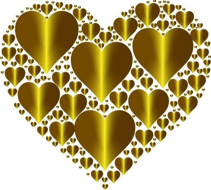картинка четыре сердца это антилопы плоскими