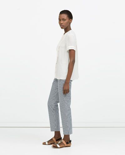 PLEATED FRONT SHIRT-Tops-WOMAN | ZARA United States