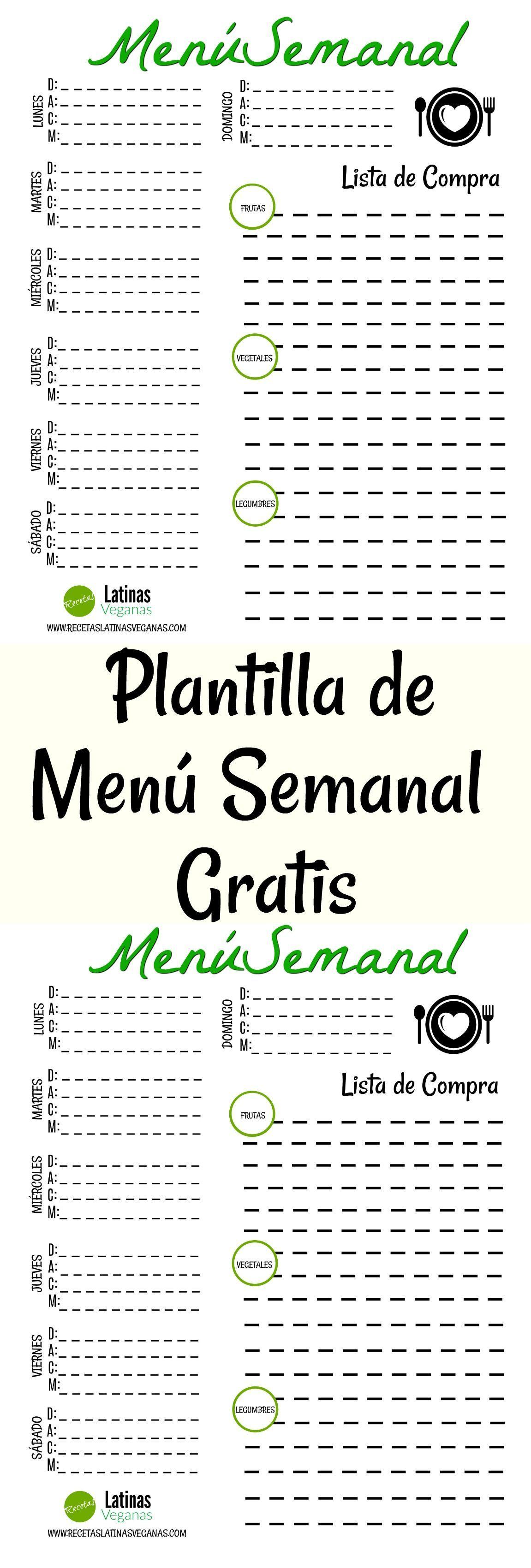 46+ Plantilla menu semanal trends