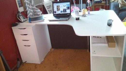 Galant Hoekbureau Rechts.Starting Point Needs Work Ikea White Bekant Top Alex Drawer