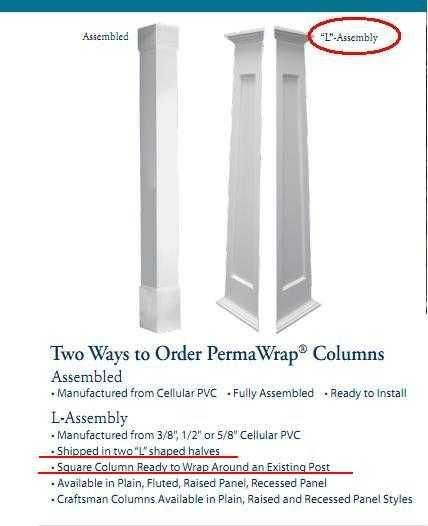 Pvc Column Wrap Home Depot In 2020