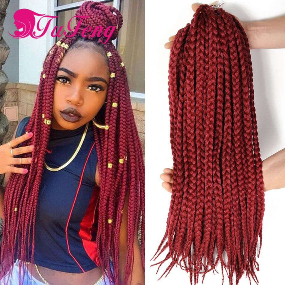 Box Braid Crochet Hair Extensions Hairpieces For Women Box