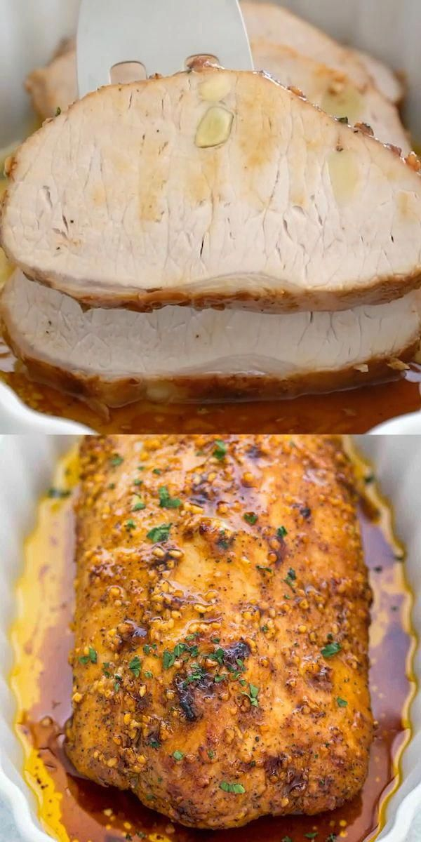 How To Cook Pork Loin Pork Loin recipe is very easy to prepare and results in a juicy, tender and very flavorful meal. The meat is cooked to perfection and seasoned with garlic and some brown sugar.