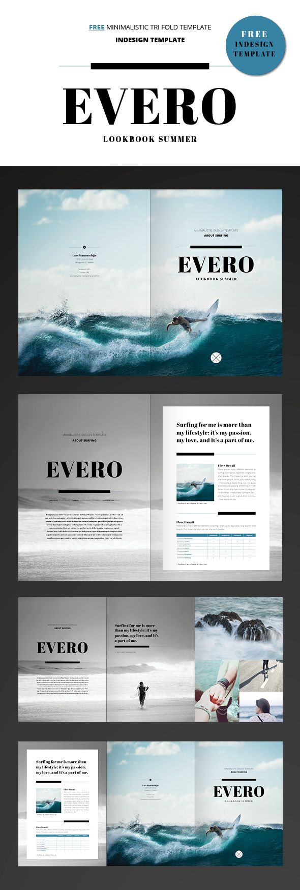 free indesign template trifold brochure on behance 雑誌