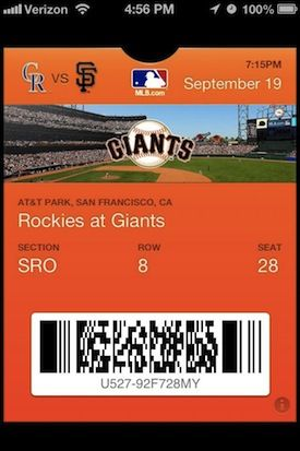 MLB Hops on the iOS 6 Passbook Express, and It's a Smooth Ride
