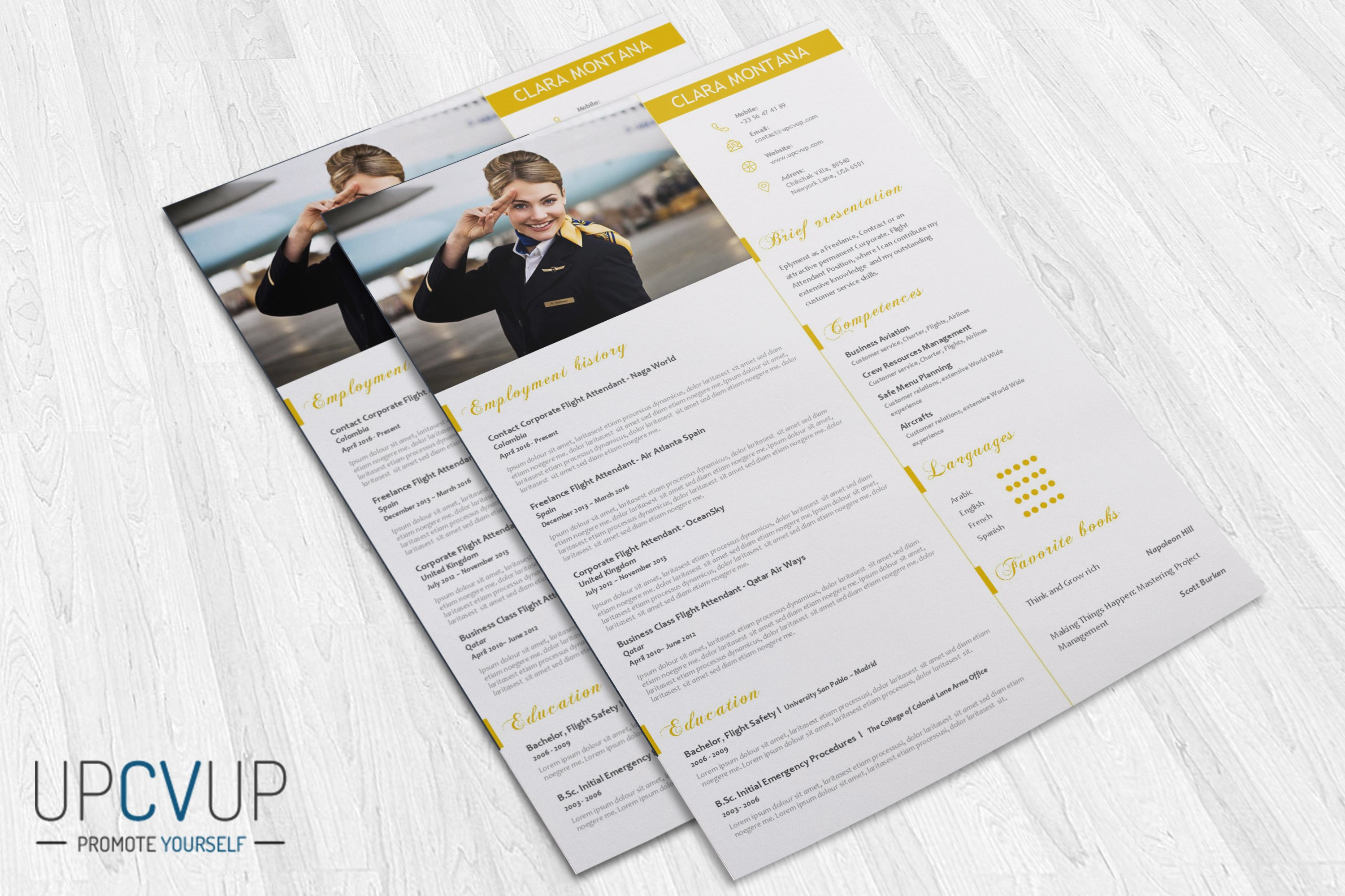 cabin crew  u00a7 flight attendant modern resume cv template   cover letter design for  u2026