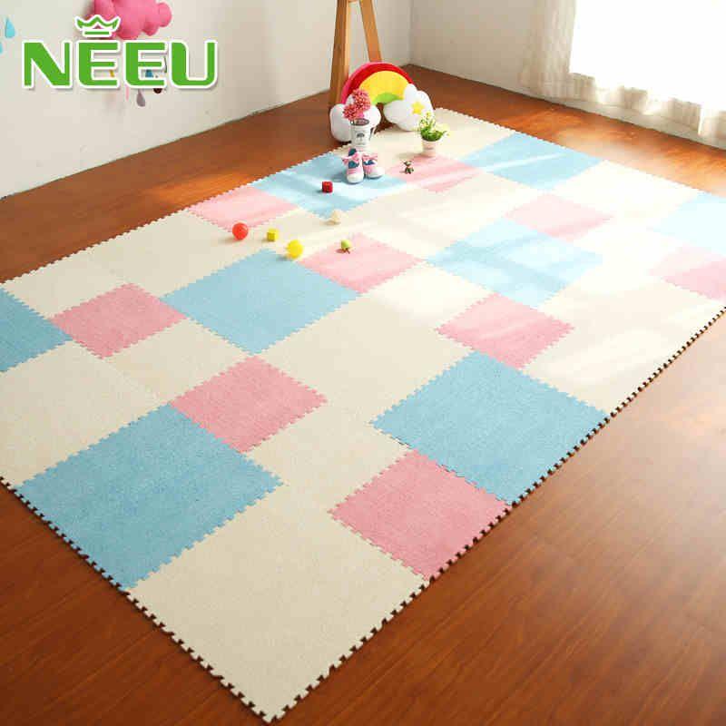 Eva Foam Interlocking Floor Tiles Exercise Gym Playmat For Baby And