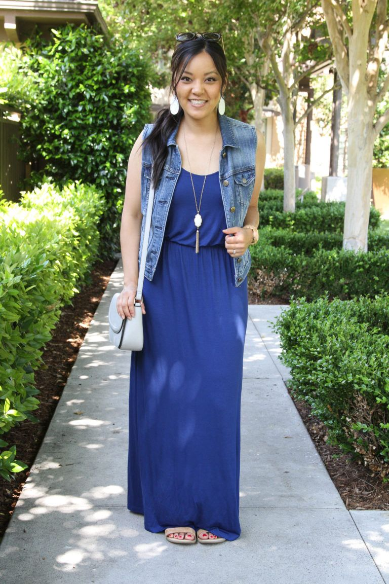 Ways to wear a blue maxi dress in the summer pinterest blue maxi