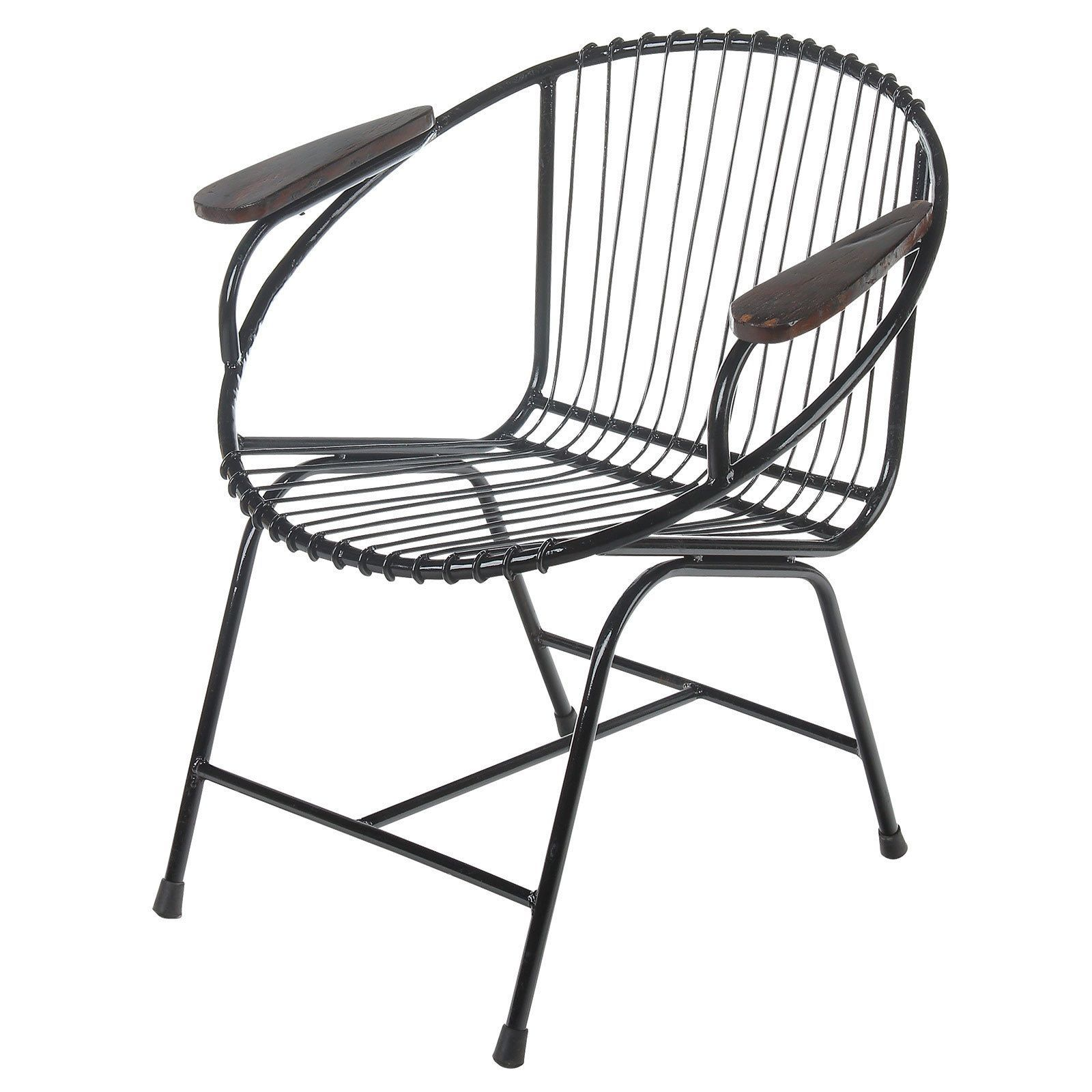 Joseph Allen Truckee Metal Wire Chair Black With Arms Bali Outdoor Phone Line Wiring