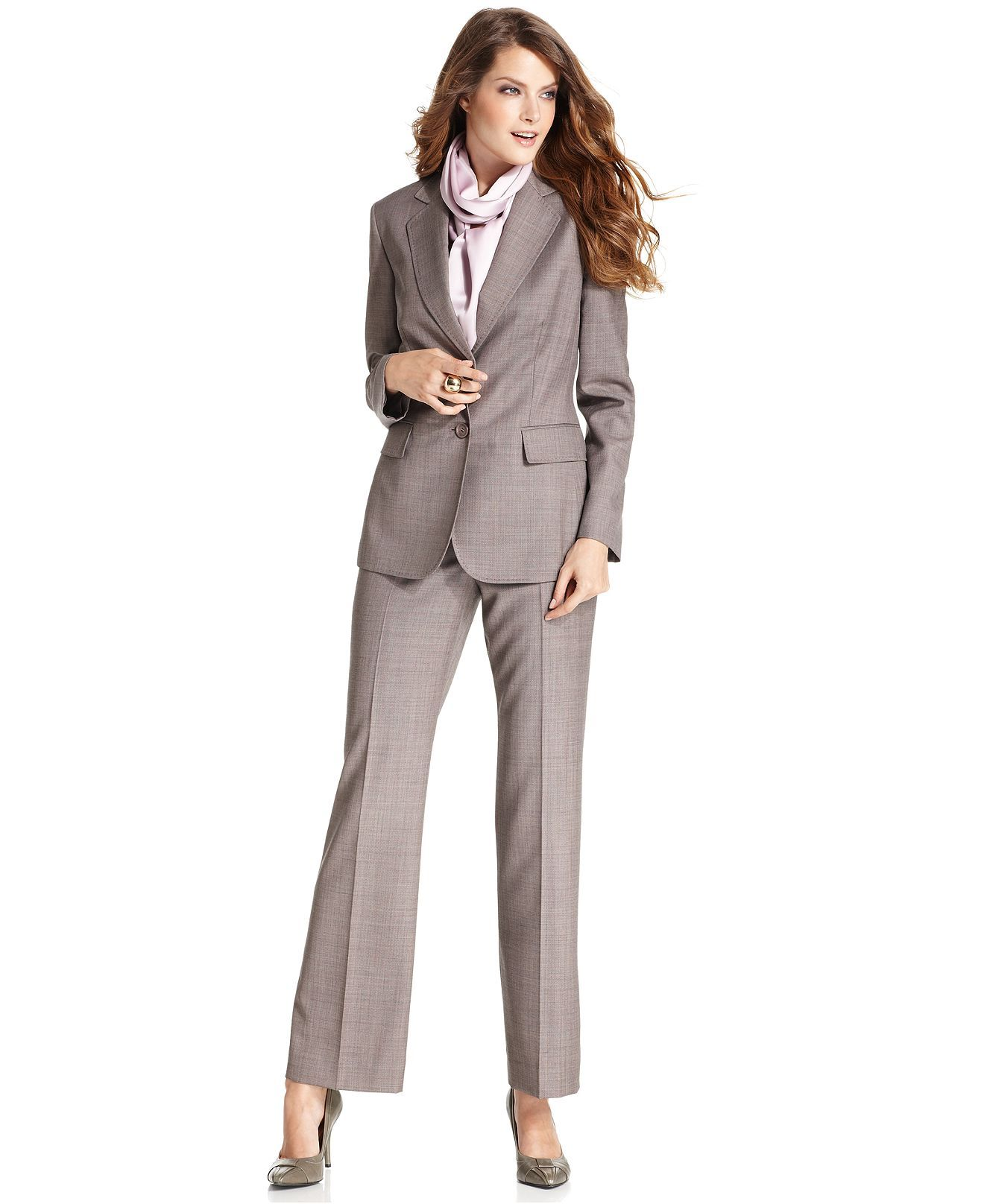 Katharine suit idea at Macy's--Anne Klein Suit, Removable Scarf ...