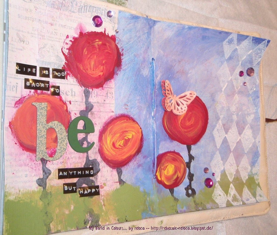 "Página Art Journal: ""Life is too Short ..."""