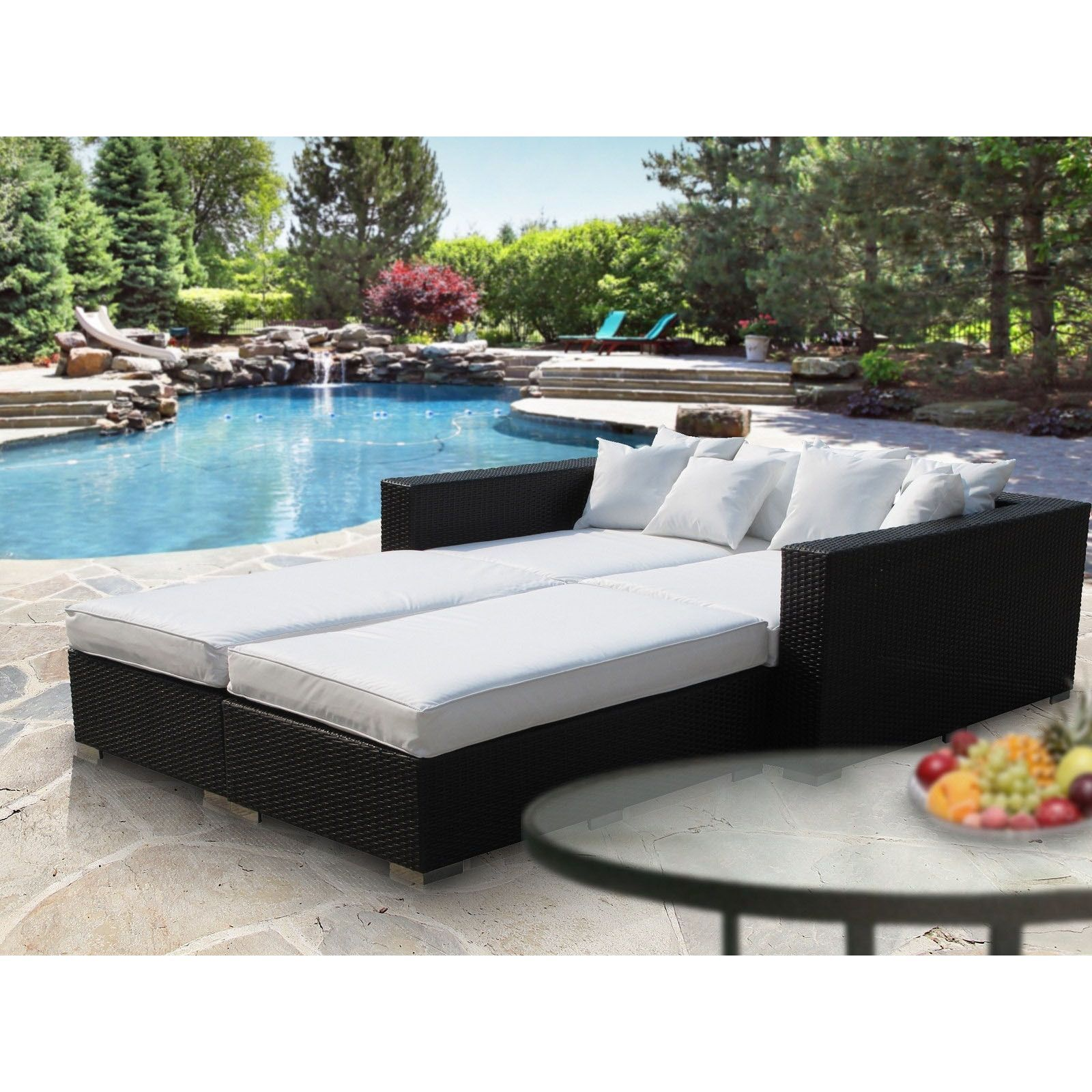 - Info - Colors - Dimensions Preside over your backyard ... on Living Spaces Outdoor Daybed id=34276
