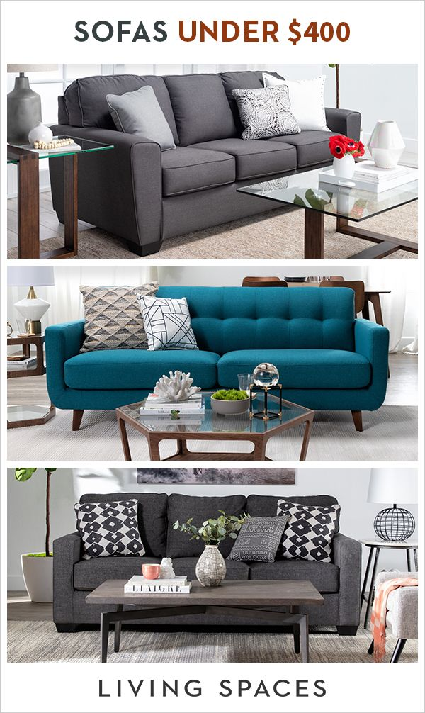 Stylish Sofas To Update Your Living Room Within Budget Find A Wide Selection Under 400 With Images Commercial Furniture Living Spaces Furniture Furniture Accessories