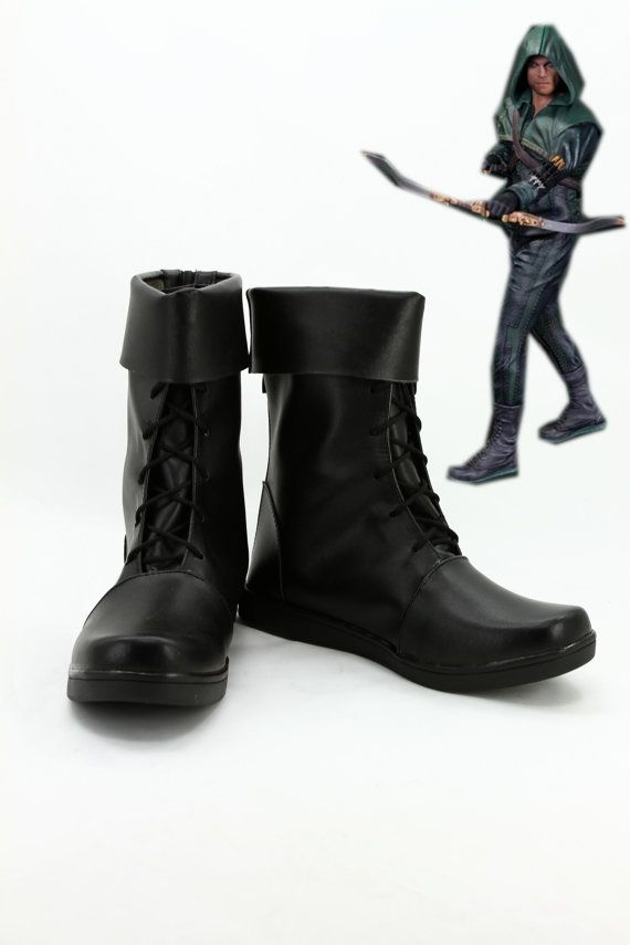 Green Arrow Oliver Queen Cosplay Shoes Boots for by Coszone, $55.85