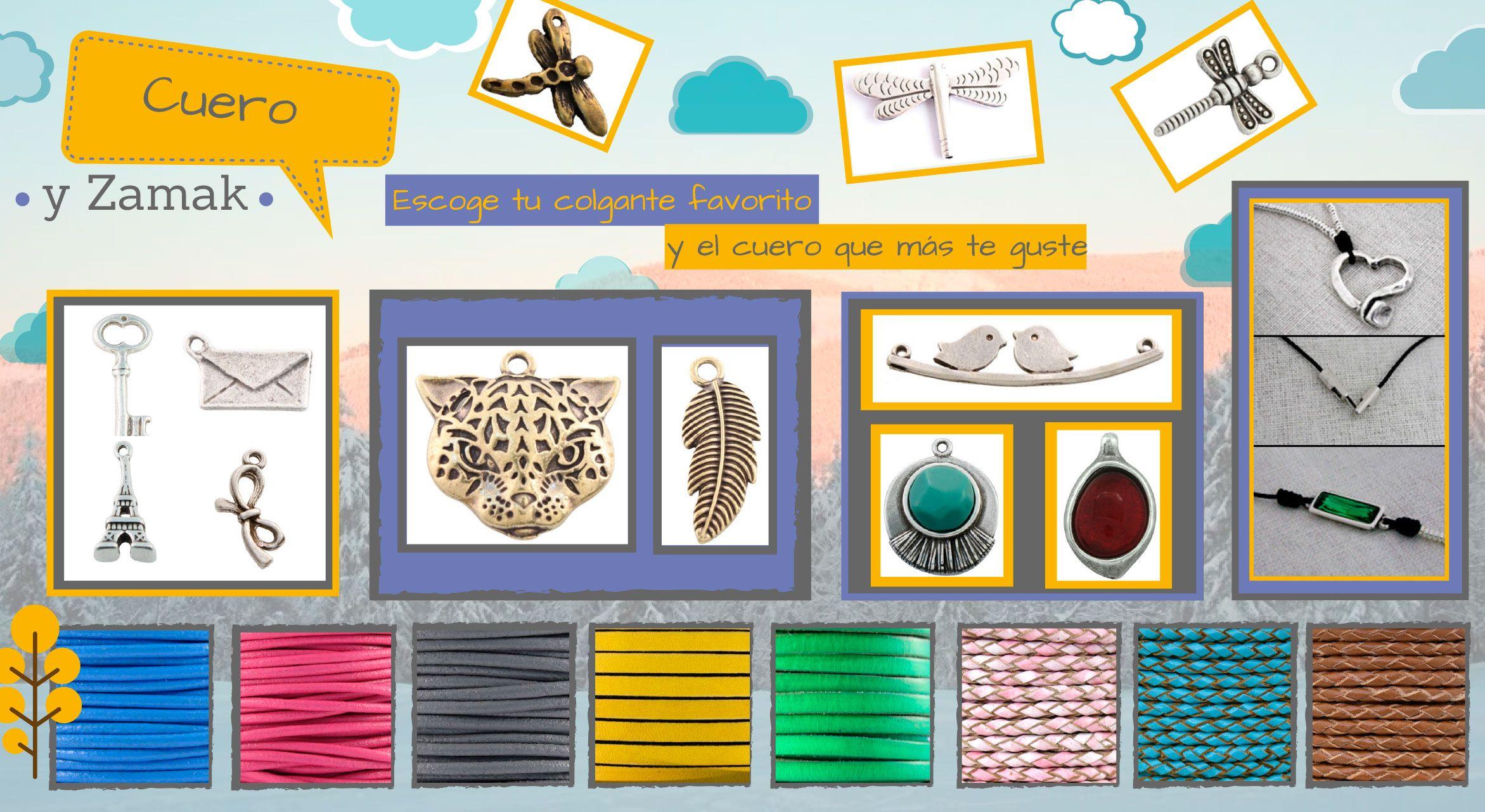 Collares de moda: cuero y zamak  Encuentra tu preferido en www.tulohaces.com