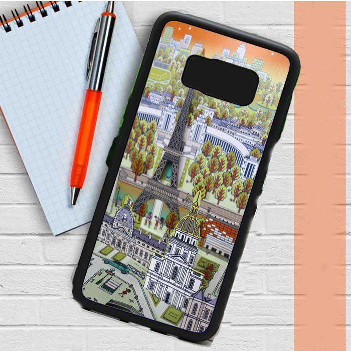 World Paris Map Vintage Samsung Galaxy S8 Case Dewantary