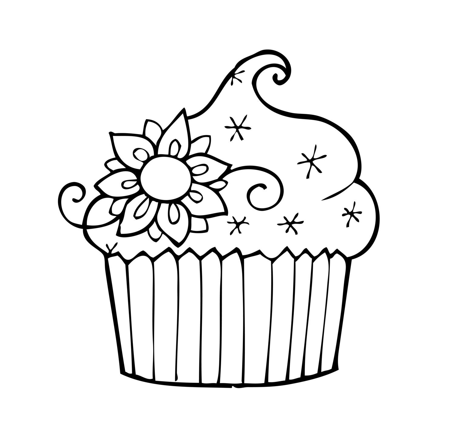 Sparkle Cupcake Birthday Coloring Pages Cupcake Coloring Pages Coloring Pages