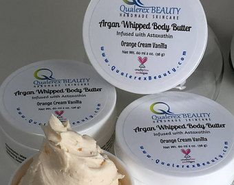 Organic Argan Vegan Whipped Body Butter with Astaxanthin