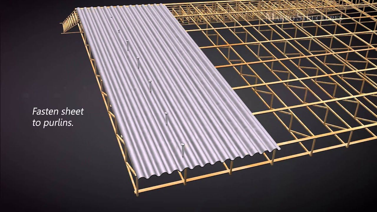 How to install corrugated YouTube Metal roof