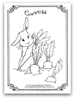coloring pages vegetables preschoolers eating - photo#21