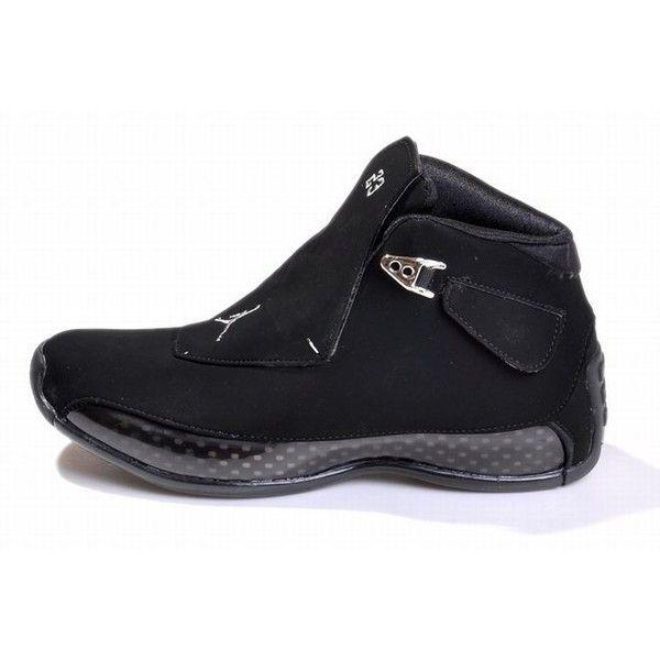 2de1d77615216e all black michael jordan 18 men shoes ❤ liked on Polyvore featuring men s  fashion
