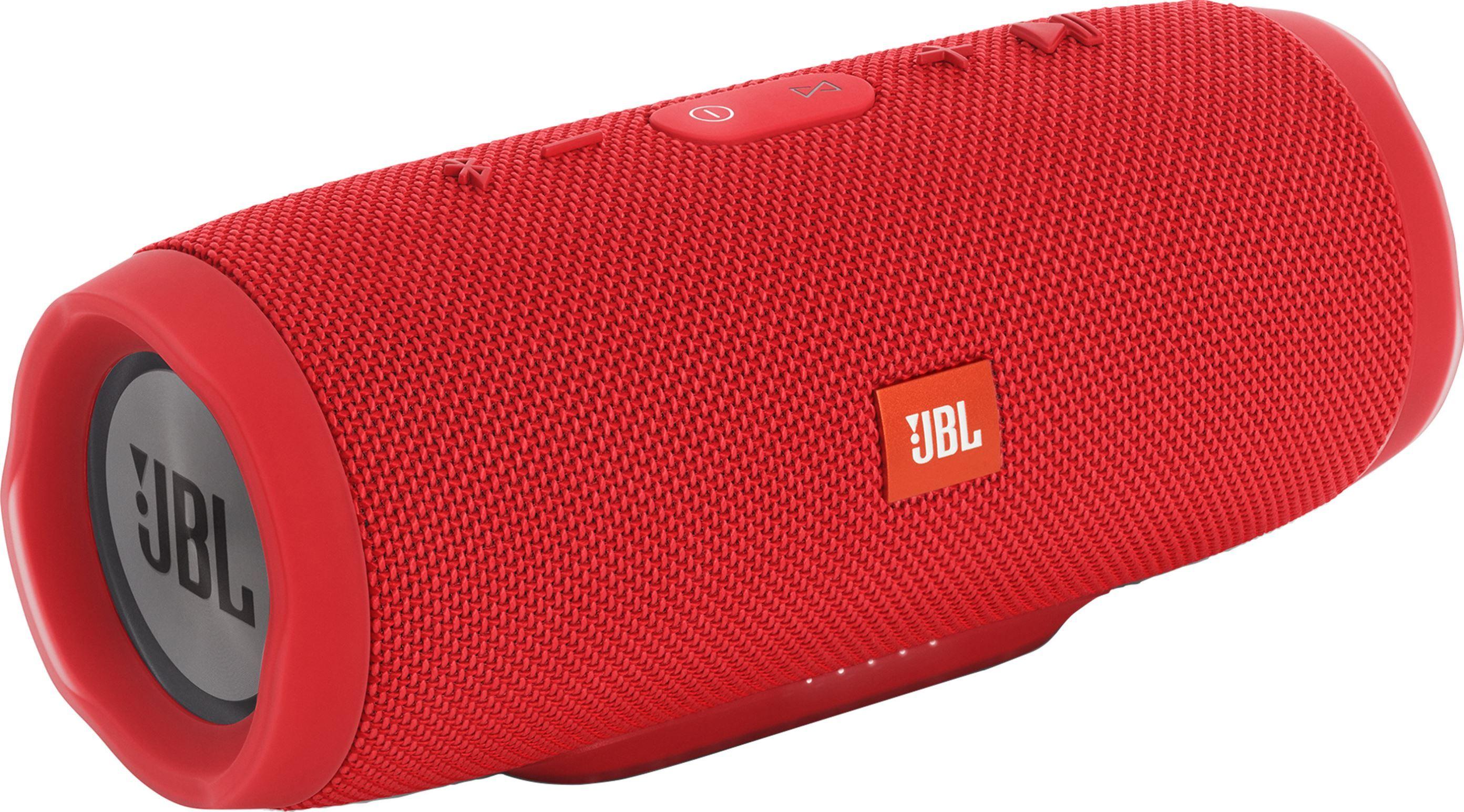 JBL Charge 3 Waterproof Portable Bluetooth Speaker (Red