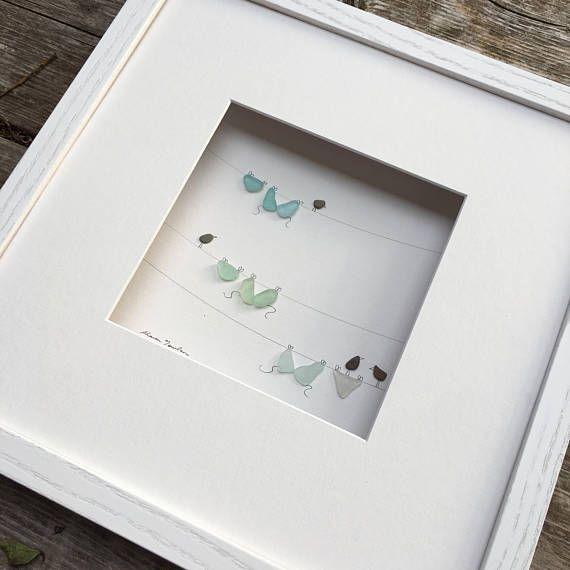 Pebble and seaglass Art clothesline by Sharon Nowlan, pebble art ...