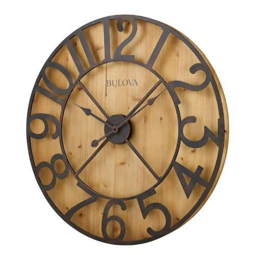 Bulova Silhouette Wall Clock Beige Bulova Wall Clock Oversized Wall Clock Gallery Wall Clock