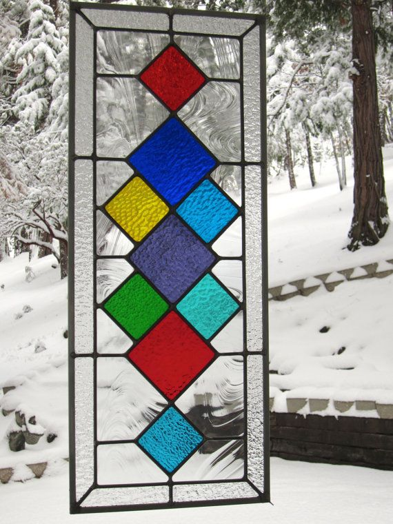 Multi Colored Diamonds Glass Window | Dibujo | Pinterest | Diamantes ...