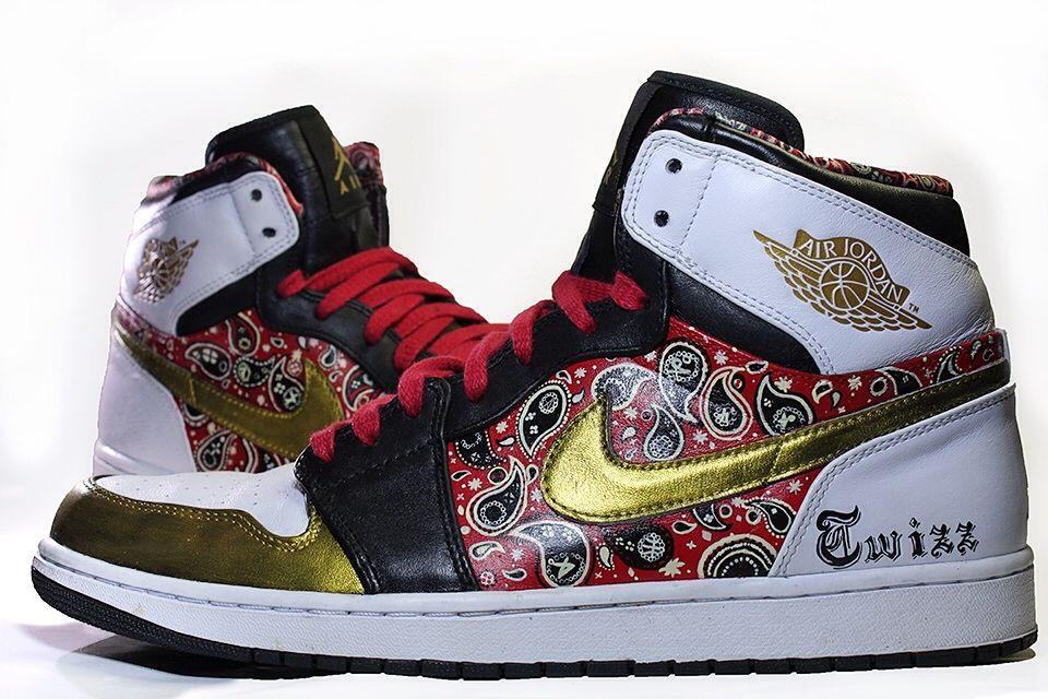 "f91cf8c596d Air Jordan 1 Mid ""Paisley"" Custom  footwear  sneakers  shoes"