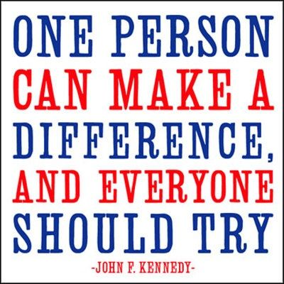 one person can make a difference speech