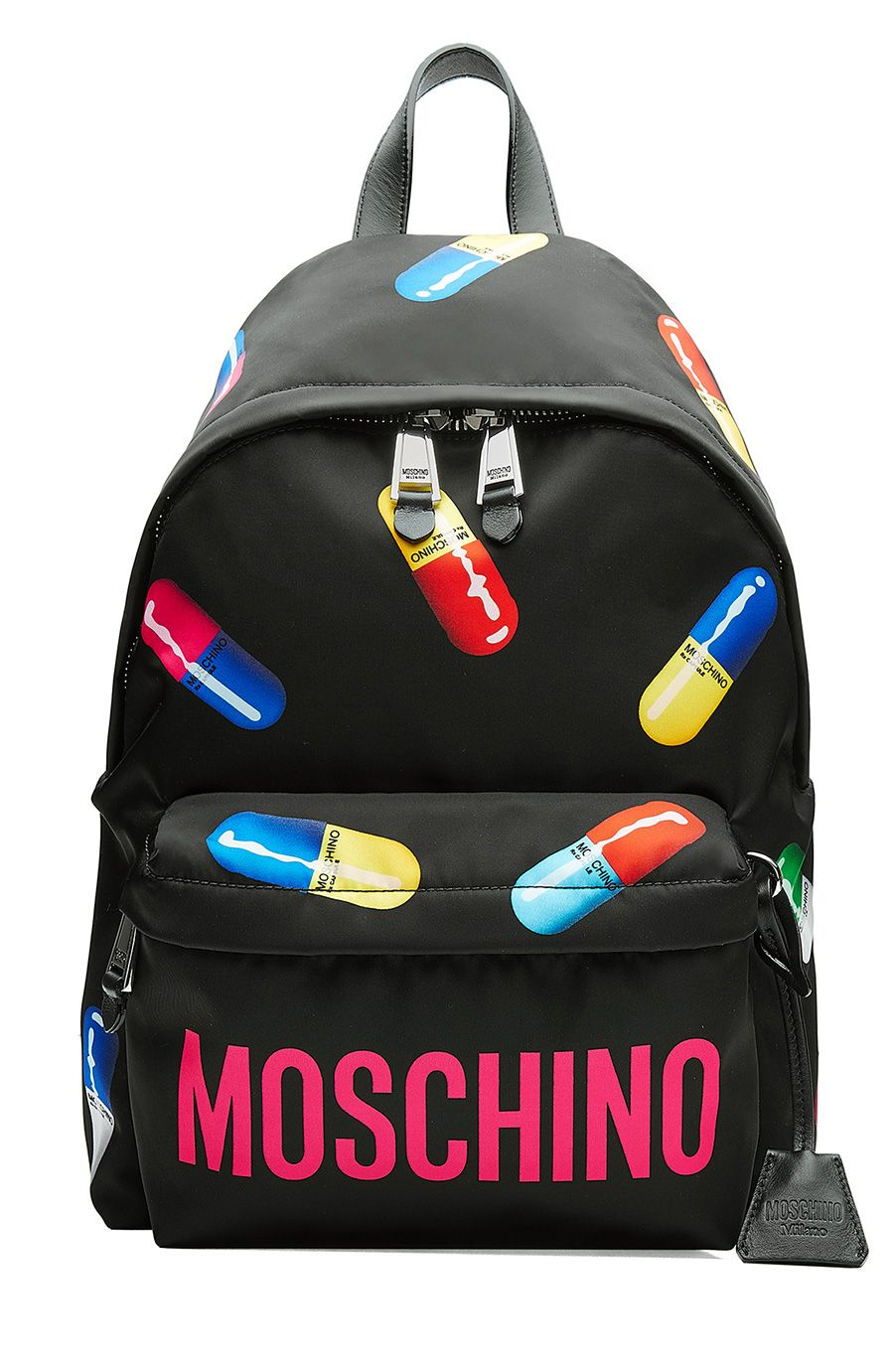 7e45d2bce1 MOSCHINO Printed Backpack. #moschino #bags #backpacks #cotton ...