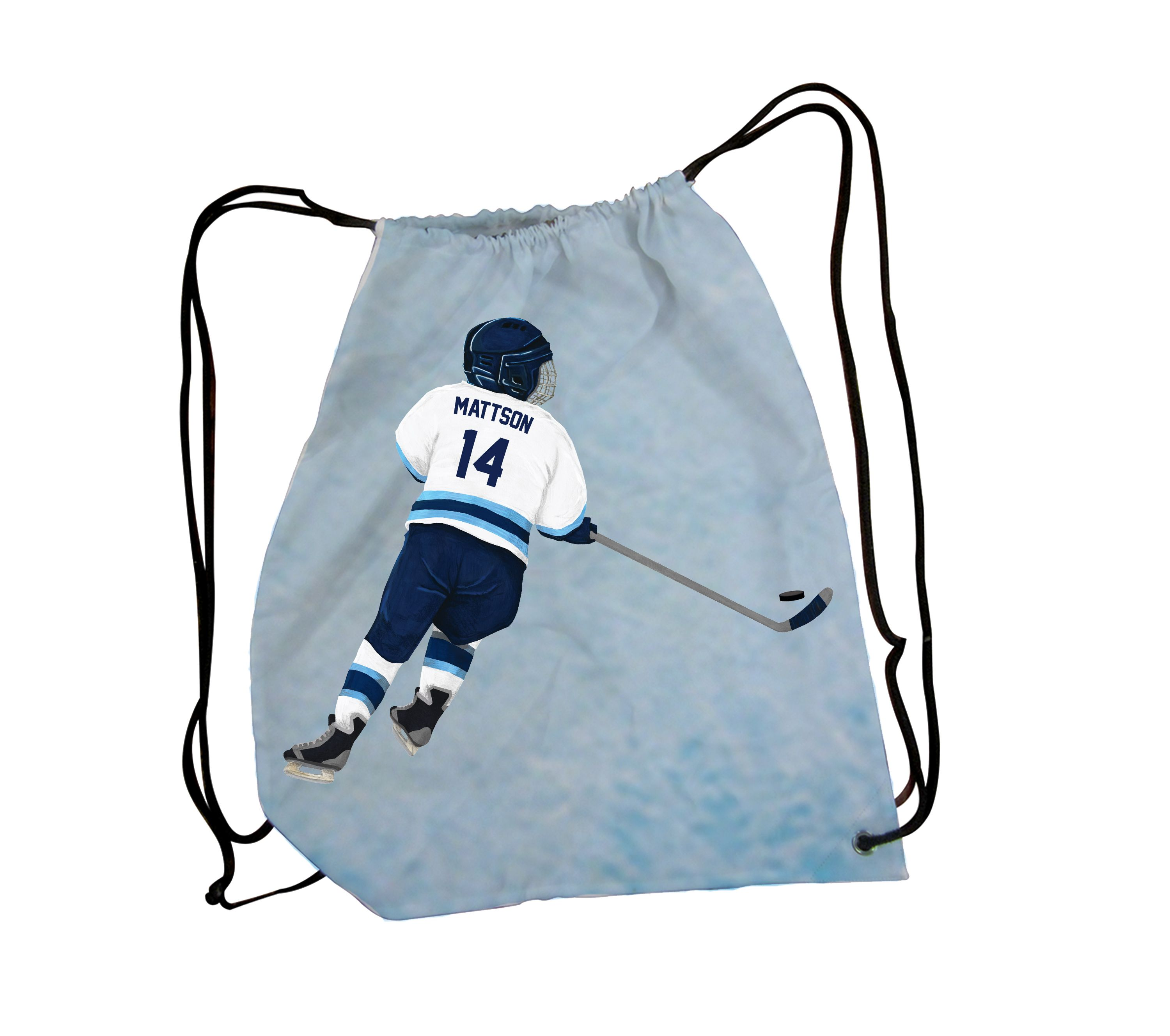Custom Drawstring Bag! Personalize with your childs name and number ...
