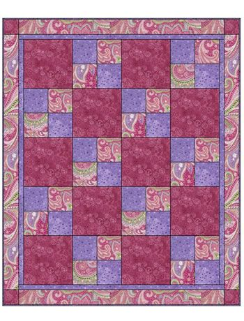 Sew Quick 3 Yd Quilt Pattern Finished Size Of Quilt 48 X