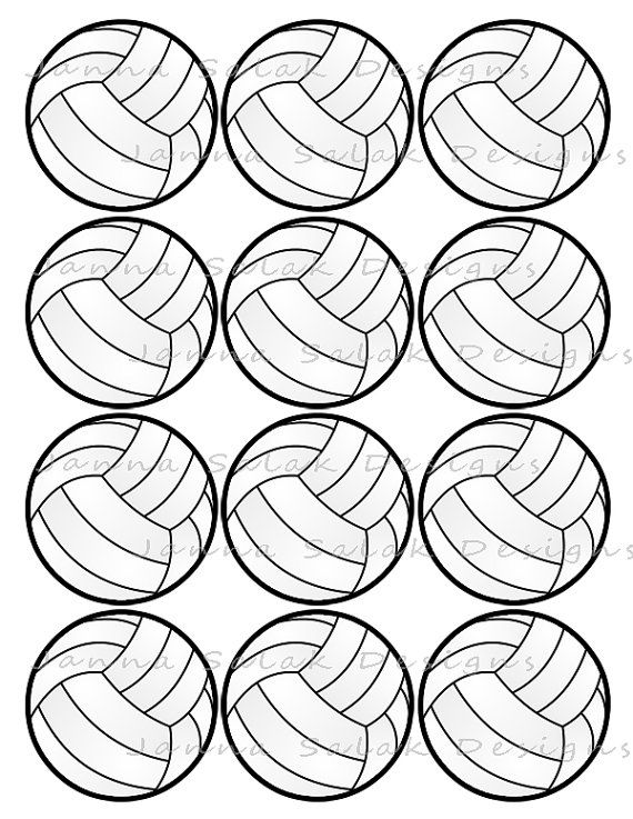 2 5 Volleyball Printable Cupcake Toppers Sports Theme Etsy Sports Theme Birthday Cupcake Toppers Printable Volleyball