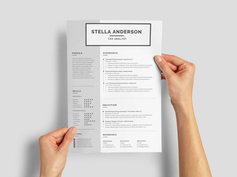 Free tax analyst resume template in 2020 resume template