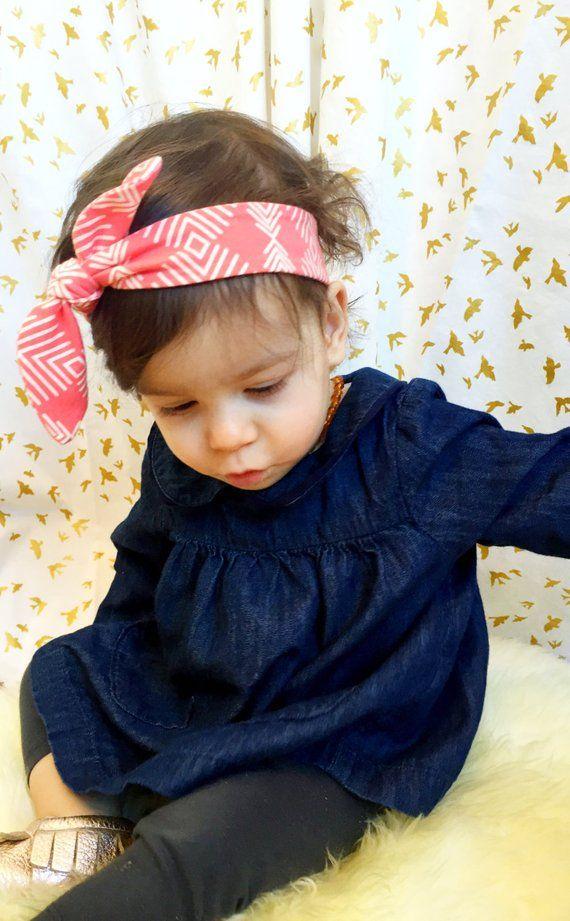Baby Headband Headwrap - Mint Triangles f7deea93f74