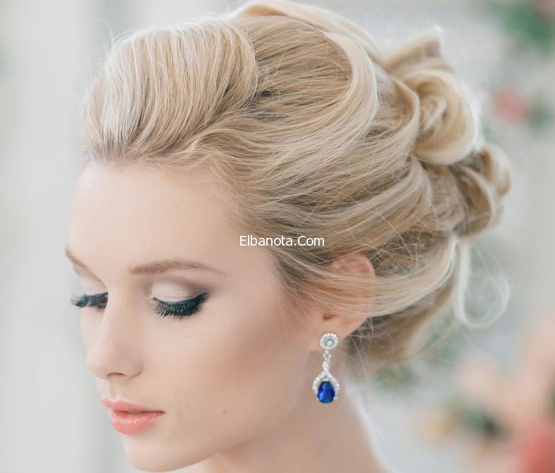 تسريحات شعر للعرائس تسريحات عرايس ناعمه تسريحات للعرائس 2014 Wavy Wedding Hair Glamorous Wedding Hair Short Wedding Hair