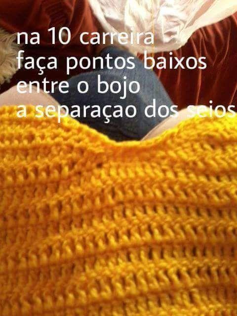 Pin de Eva Maria en Crochê | Pinterest | Blusas, Cuerpos de bikini y ...