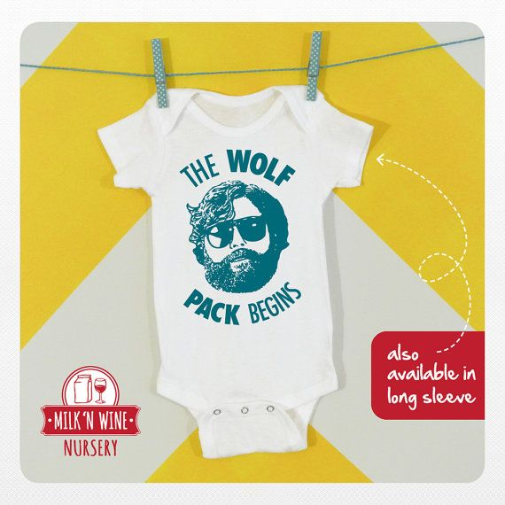 843d63442 The Wolf Pack Begins Baby One piece bodysuit by Milknwinenursery #wolfpack  #hangover #movie #funny #design #illustration #funny #onesie #baby  #babyshower # ...