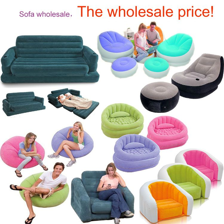 Ocio sofá inflable sofá inflable espesa espuma sillas | Outdoor ...