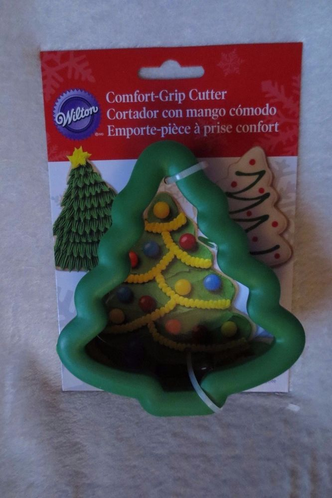 Wilton Christmas Tree Comfort Grip Cookie Cutter New Wilton