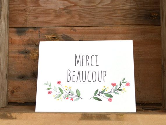 Merci Beaucoup  Thank You Very Much  Customizable  by kaitcreative, $4.00