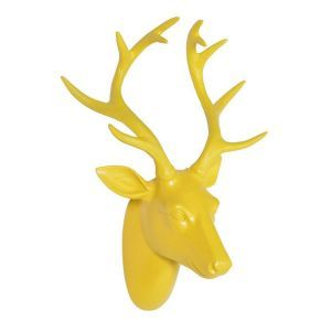 Tyrell Decorative Stag Head in Yellow
