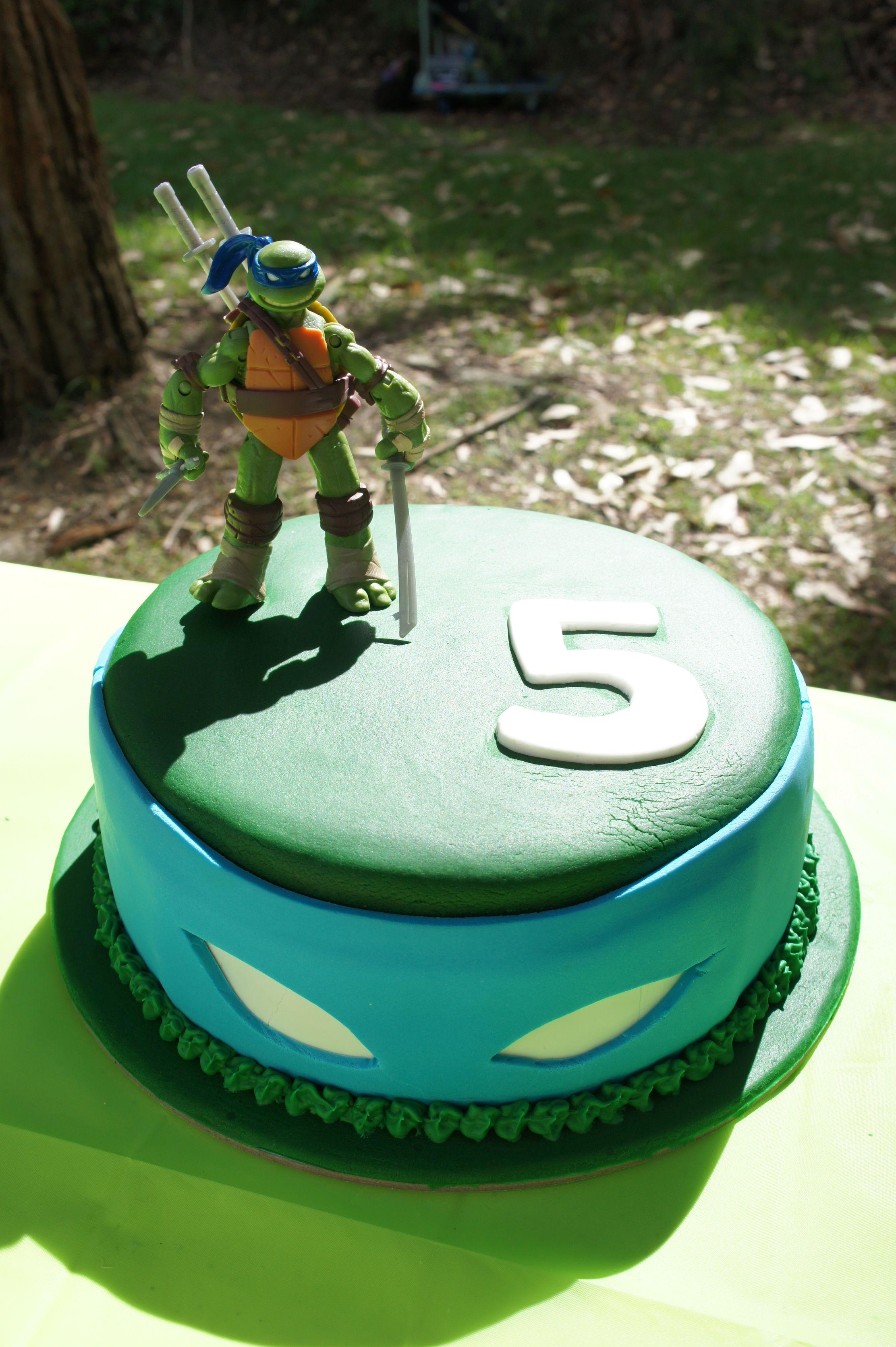 Ninja Turtle Cake Leonardo Ninja Turtle Birthday Pinte