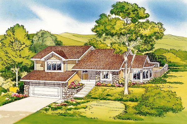 Traditional Style House Plan with 3 Bed 2 Bath 2 Car Garage