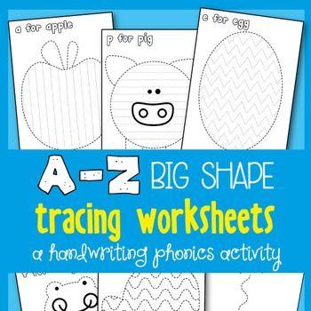 Alphabet Picture Tracing Activities - Great for Kindergarten ...