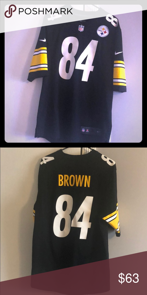 65a8c020a Pittsburg Steelers Jersey( 84)(AB)Worn lightly Black and Yellow Antonio  Brown Jersey  84 NFL Other