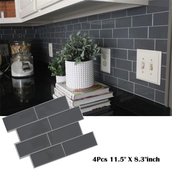 grey brick subway tile peel and stick